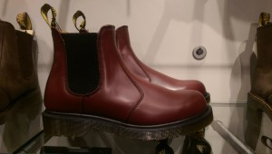 Dr. Martens 2976 cherry Chelsea boot.